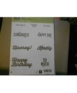 Stampin Up Wooden Stamp Set (new) PERFECT PAIRINGS (9 stamps) - $28.17