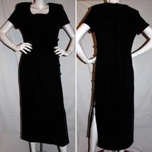 Maggy London Maxi Black Velvet Dress Size 12 - $49.99