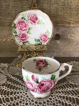 Vintage Queen Anne Lady Margaret Fine Bone China Tea Cup and Saucer - $32.71