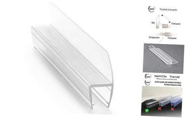 "Frameless Shower Door Side Seal Stripe for 1/4"" Glass, Vertical Polycarb... - $57.19"