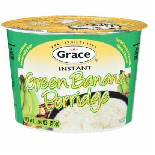Primary image for Grace Instant Green Banana Porridge 1.94 oz (Pack of 3)