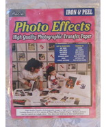 Hues Inc Iron & Peel Photo Effects Transfer Paper 3 Sheets plus instruct... - $1.00