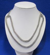 Alfani Metallic Silver Tone Snake Mesh Rope Necklace Jewelry - $10.39