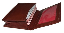 """Leatherboss Small Credit Card Holder Wallet with Expandable Pocket - Brown 4"""" X - $17.17"""