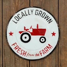 Country LOCALLY GROWN METAL SIGN PLAQUE Rustic Farmhouse Vintage Retro F... - $45.99