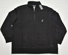 Nautica Sweatshirt Jacket Men's 5XLT 5XT 1/4 Zip Logo Fleece Pullover Bl... - $37.95