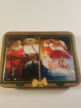 Coca Cola Nostalgia Christmas Santa Claus Playing Cards 2 Decks In Tin - $15.00