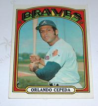 1972 72 topps 195 orlando cepeda Atlanta Braves, sf giants mlb Baseball ... - $11.83