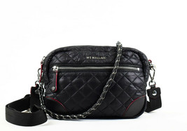 Mz Wallace Small Crosby Quilted Oxford Nylon Crossbody Bag - Black (Reta... - $246.51