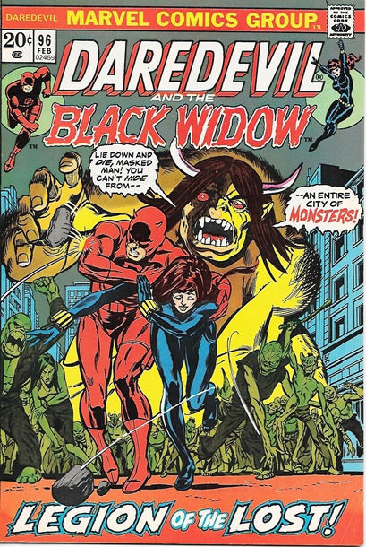 Daredevil Comic Book #96 Marvel Comics 1973 FINE+