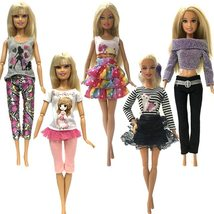 Nk 5 Pcs Handmade Clothes For Barbie Doll Dress Baby Girl - $18.00