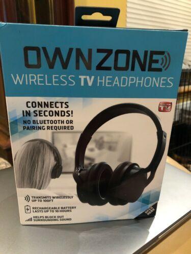 Sharper Image Ownzone Wireless Tv Headphones Wn061112 Black Headphones