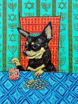 animal Art oil painting printed on canvas home decor chihuahua hanukkah  - $14.99+