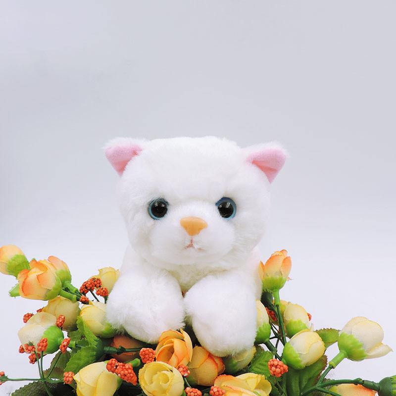 20cm small white cat plush toys stuffed simulation animals kawaii2
