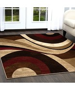 """Home Dynamix Tribeca Slade Modern Area Rug, Abstract Brown/Red 5'2""""x7'2"""" - $69.04"""