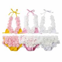 New Arrivels Baby Girls Flower Tankini Bikini Swimwear Swimsuit Bathing ... - $12.59