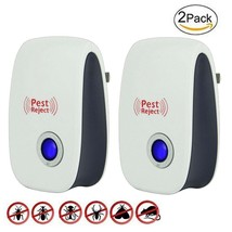 Ultrasonic Pest Repellent2 Pack Electronic Control Plug In Pest Repeller... - $12.38