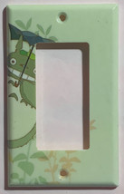 Totoro green Light Switch Outlet Toggle Rocker Wall Cover Plate Home decor image 3