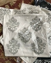 Pottery Barn Kyla Pillow Cover Ivory 18x18 sq Embroidered Floral Medallion New - $39.50