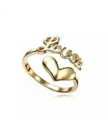 Love Adjustable Beautiful Ring 18k Yellow Gold Plated Pure 925 Sterling ... - £17.17 GBP