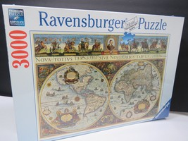 Ravensburger Puzzle Antique Old World Map NEW SEALED 3000 Pieces Globe - $44.55