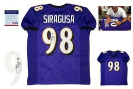 Tony Siragusa Autographed SIGNED Jersey - PSA/DNA Authentic w/ Photo - Purple - $128.69