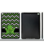MONOGRAMMED RUBBER CASE FOR iPad Air 1 2 Mini 1 2 4 BLACK GREEN FROG CHE... - $15.98