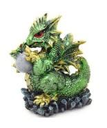 "Dragon with Baby Hatchling Egg Figurine 5"" Fantasy Decor GSC 71797 - $16.44"