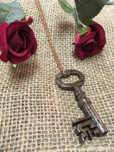 Long Key Necklace - Skeleton Key Authentic Vintage Antique Pendant - 18t... - $19.99