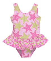 Flap Happy Baby Girls' Upf 50+ Serena Contrast Swimsuit, Starry Reef, 12m - $23.27