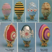 Crochet Easter Faberge Eggs Rabbit Apron Chicken Trivets Antimacassar Pa... - $9.99