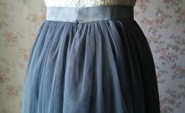 DARK GRAY Wedding Bridesmaid Tulle Skirt High Waist Gray Full Maxi Tulle Skirt image 5