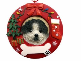 E&S Pets Black and White Shih Tzu Puppy Cut Personalized Christmas Ornament - $14.95