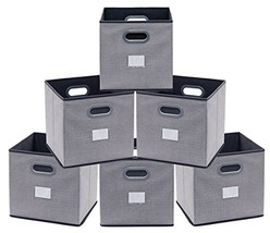 Onlyeasy Cloth Storage Bins Cubes Boxes Fabric Baskets Containers - Fold... - $29.82