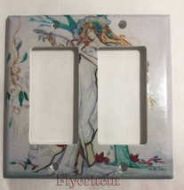 Artist Lady with Tree Light Switch Duplex Outlet Wall Cover Plate Home Decor image 6