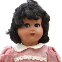 Vintage Ca. 1960s Athena Italy Hard Plastic Flirty Eyed Girl Doll Marked... - $32.62