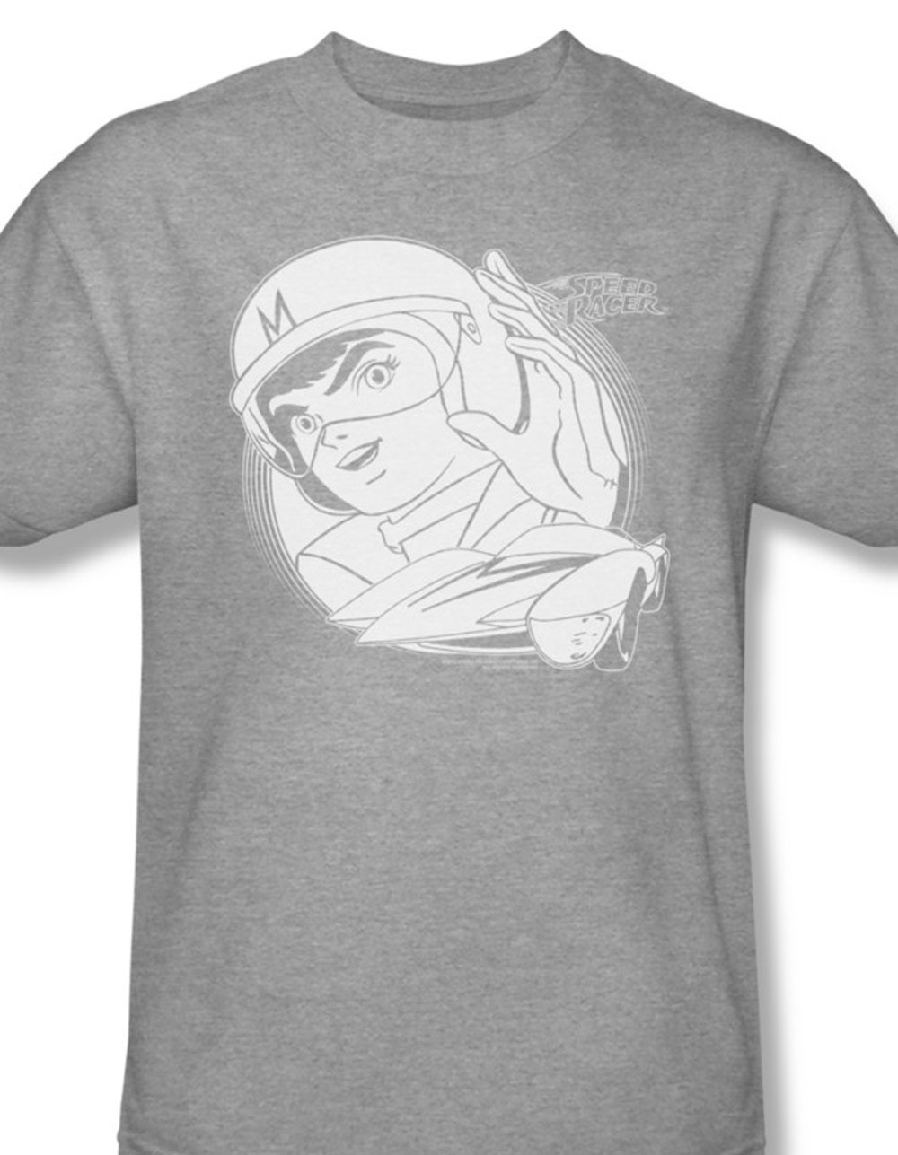 Spd144 at speed racer 60 s 70 s cartoon anime tv series for sale online gray graphic tshirt