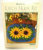 "Caron Wonderart Latch Hook Kit Sunflowers Rug 20"" x 27"" - $23.36"