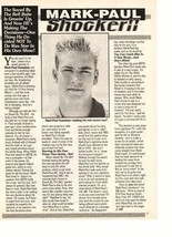 Mark Paul Gosselaar teen magazine pinup clipping shocker for Mark Paul Bop