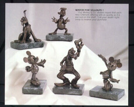 Goofy Pluto Donald Minnie Mickey & Friends Bronze 9/75 Matched numbered set - $1,799.99