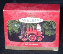 Hallmark Keepsake 1999 Jolly Locomotive Christmas Ornament QX6859 - $13.98