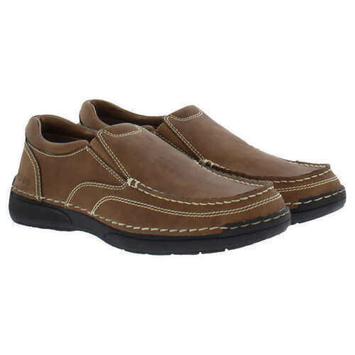 Izod Men's Charlie Memory Foam Insole Slip On Shoes Color: Dark Tan NEW NWOB