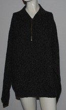 Woolrich Wool Blend Pullover Sweater 1/4 Zip Dark Gray Mens Large L - $24.70