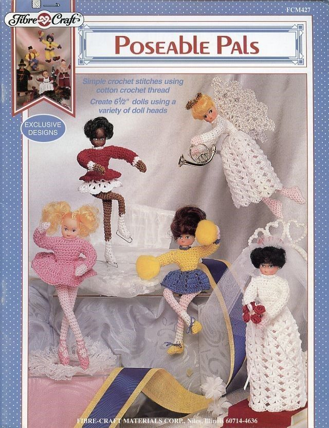 Poseable Pals 65 Dolls Fibre Craft Crochet And 50 Similar Items