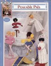 "Poseable Pals 6.5"" Dolls Fibre Craft Crochet Pattern/Instructions Leaflet FCM427 - $2.67"