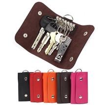 Keys Holder Leather Manager Wallet Organizer Buckle Patent Key Car Case ... - $5.59