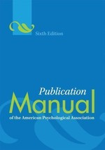 Publication Manual of American Psychological Association Paperback, 6th ... - $11.65