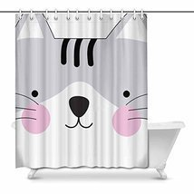 InterestPrint Cute Cute Kitty Kitten Cat Face Gray Baby Cartoon Animal D... - £26.58 GBP