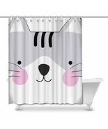 InterestPrint Cute Cute Kitty Kitten Cat Face Gray Baby Cartoon Animal D... - £26.23 GBP