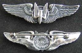 WWII Aerial Gunner Wings Luxenberg Sterling Silver   - $65.00
